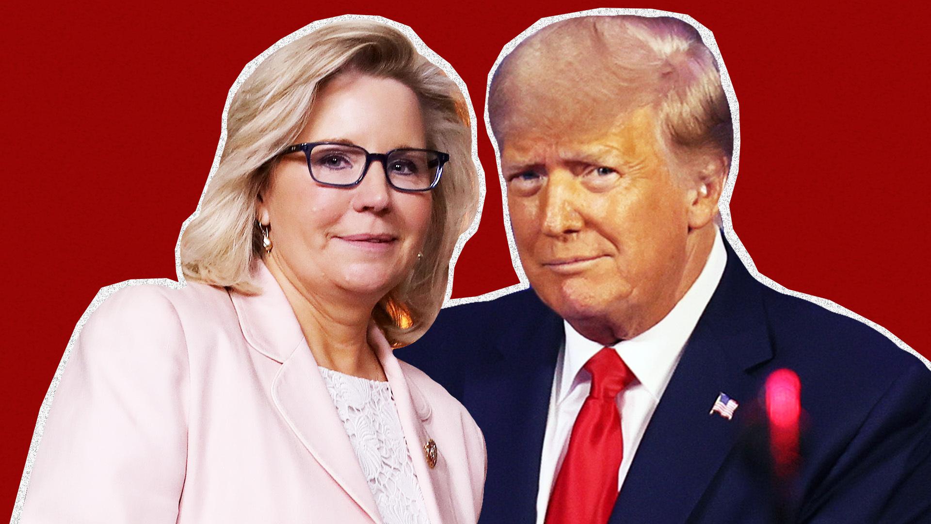 Liz Cheney and Donald Trump