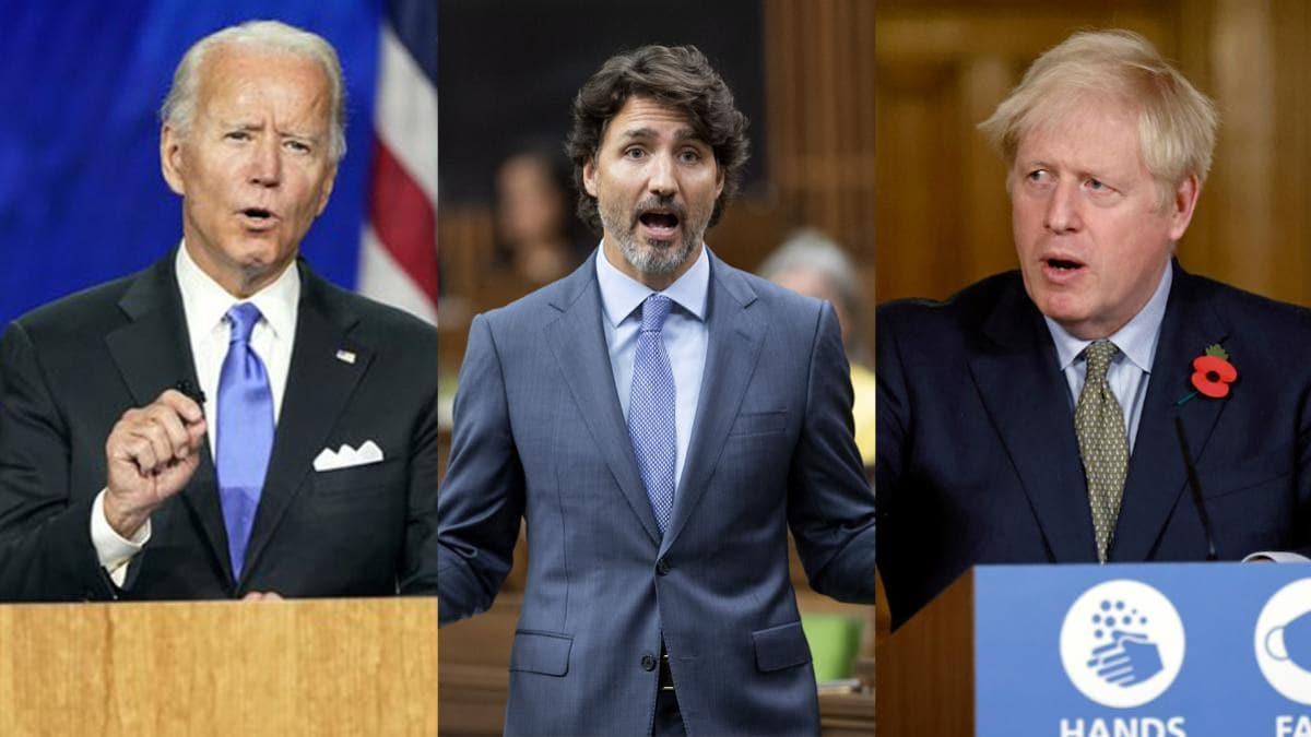 Biden, Trudeau and Johnson