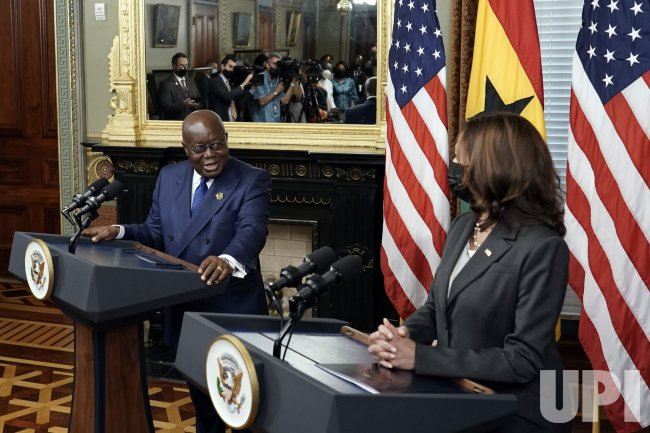 US Vice President Kamala Harris and Ghana President Nana Akufo-Addo