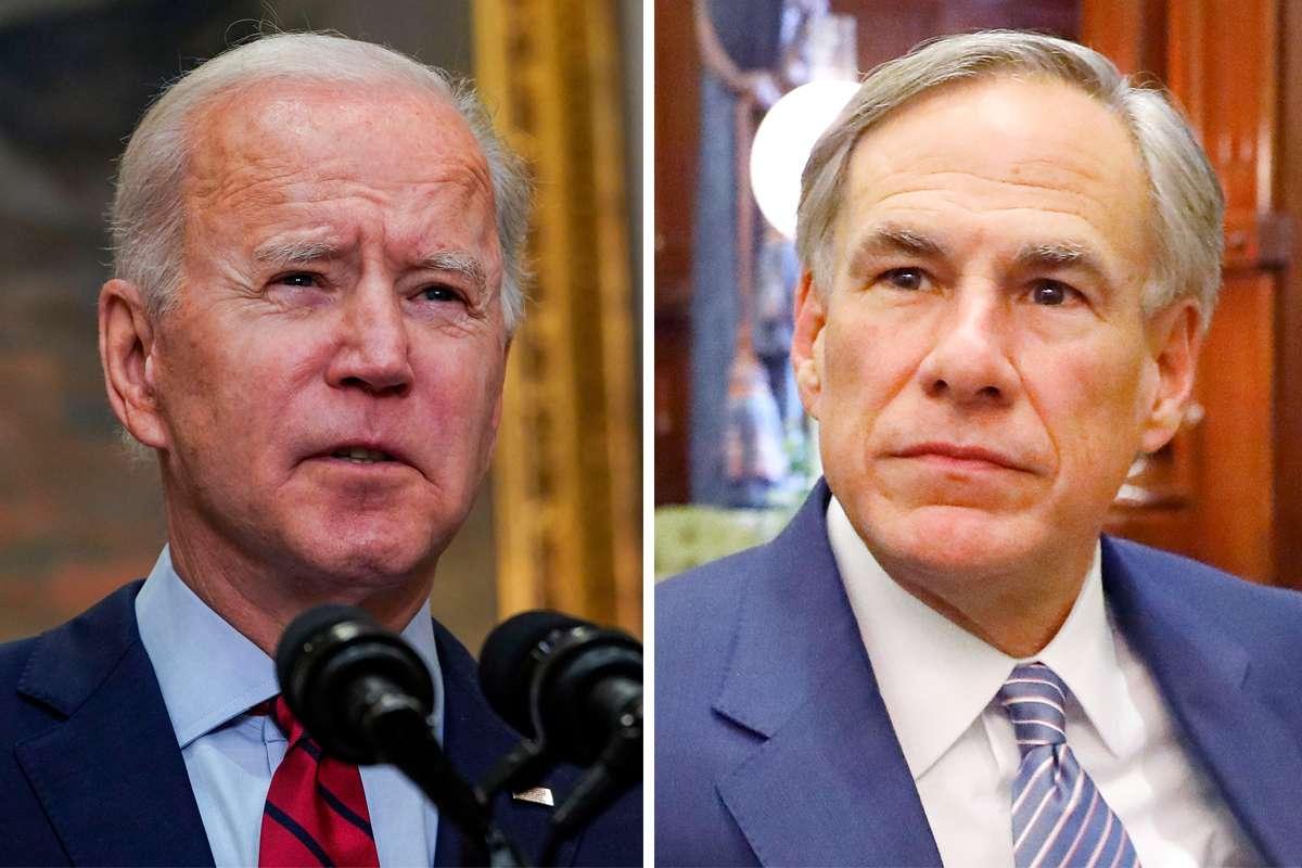 Joe Biden and Greg Abbott