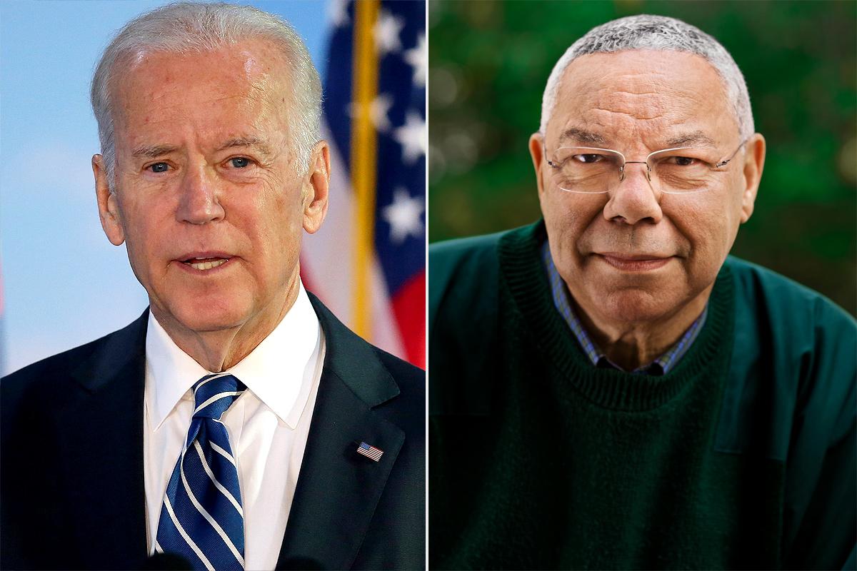 Joe Biden and General Colin Powell